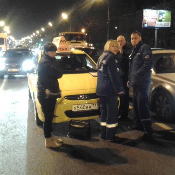 Смерть таксиста за рулем